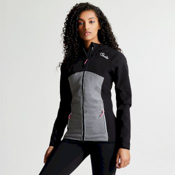 Women's Demure Hybrid Softshell Jacket Black Ash