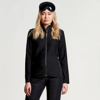 Women's Elicit Core Stretch Textured Midlayer Black