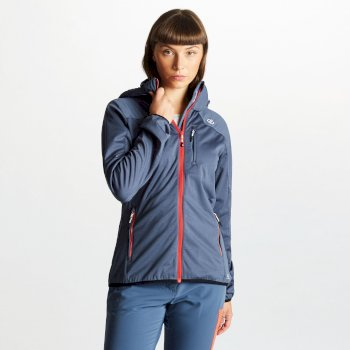 Women's Inquire AEP Softshell Jacket with Detachable Hood Meteor Grey
