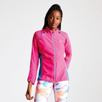 Women's Circumspect Lightweight Detachable Sleeve Windshell Jacket Cyber Pink