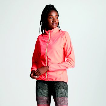 Women's Exhultance Lightweight Windshell Jacket Fiery Coral