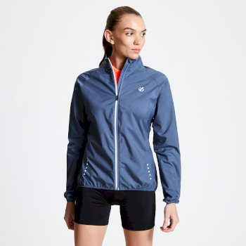 Women's Exhultance Lightweight Windshell Jacket Meteor Grey