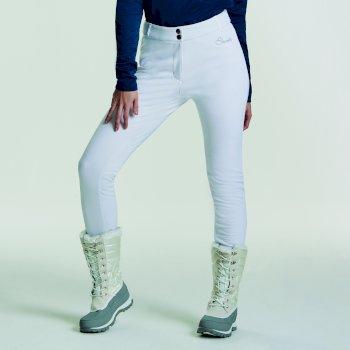 Pantalon de ski Softshell Shapely II Luxe Blanc