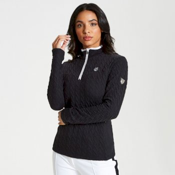 Women's Evoke Core Stretch Half Zip Luxe Midlayer Black