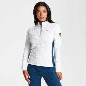 Women's Evoke Core Stretch Half Zip Luxe Midlayer Blanc