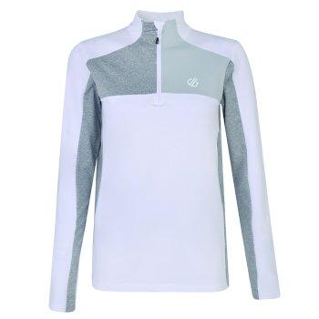 Women's Default Half Zip Core Stretch Midlayer White Argent Grey