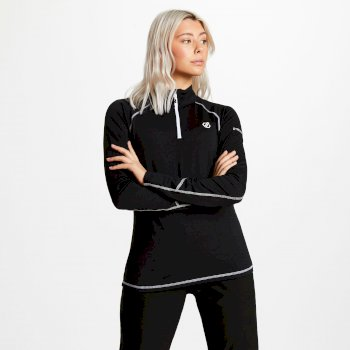 Women's Involved Core Stretch Half Zip Midlayer Black