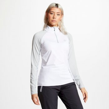 Women's Involved Core Stretch Half Zip Midlayer White Argent Grey
