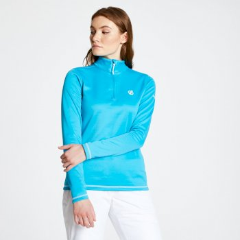 Women's Lowline Core Stretch Half Zip Midlayer Fresh Water Blue