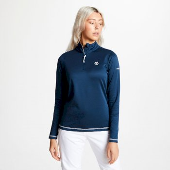 Women's Lowline Core Stretch Half Zip Midlayer Blue Wing