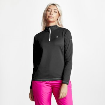 Women's Lowline Core Stretch Half Zip Midlayer Black