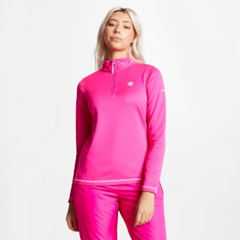 Women's Lowline Core Stretch Half Zip Midlayer Cyber Pink