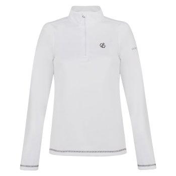 Women's Lowline Core Stretch Half Zip Midlayer White