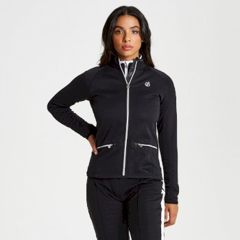 Women's Solaria Core Stretch Full Zip Luxe Midlayer Black