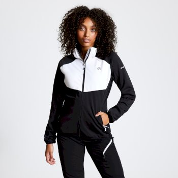 Women's Incentive Hooded Softshell Jacket Black White