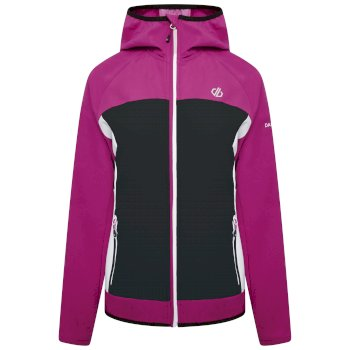 Women's Duplicity Hooded Softshell Jacket Active Pink Black