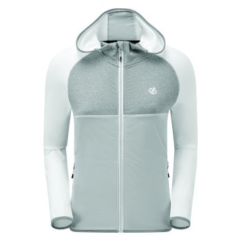 Women's Courteous II Full Zip Hooded Stretch Midlayer White Argent Grey