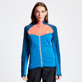 Women's Allegiance II Full Zip Core Stretch Midlayer Petrol Morrocan Blue