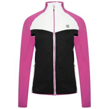 Women's Allegiance II Full Zip Core Stretch Midlayer Black Active Pink