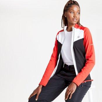 Women's Allegiance II Full Zip Core Stretch Midlayer Seville Red Black White
