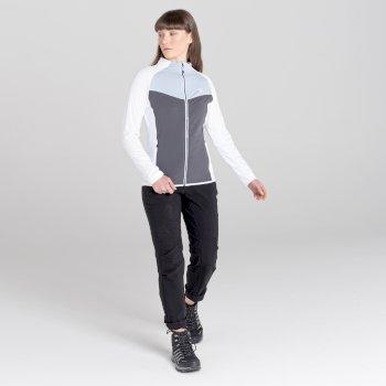 Women's Allegiance II Full Zip Core Stretch Midlayer White Celestrial Grey