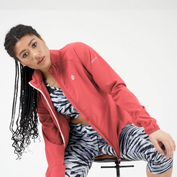 Women's Resilient Lightweight Windshell Jacket Fiery Coral