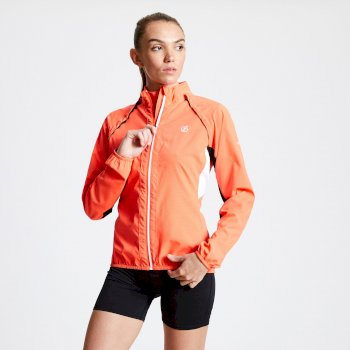 Women's Rebound Lightweight Windshell Jacket Fiery Coral
