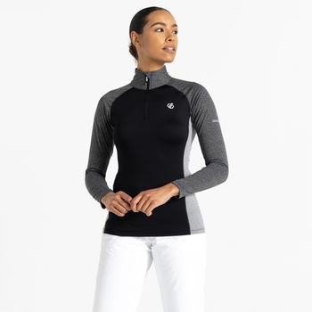 Women's Involved II Lightweight Core Stretch Midlayer Black Ebony Grey
