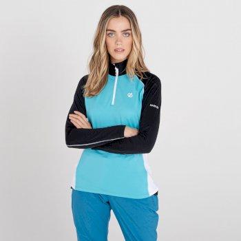 Women's Involved II Lightweight Core Stretch Midlayer Azure Blue Black White
