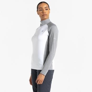Women's Involved II Lightweight Core Stretch Midlayer White Ash Grey Marl