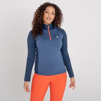 Women's Involved II Half Zip Lightweight Core Stretch Midlayer Dark Denim Nightfall Navy