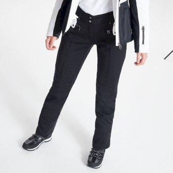Swarovski Embellished - Women's Inspired Waterproof Luxe Ski Pants Black