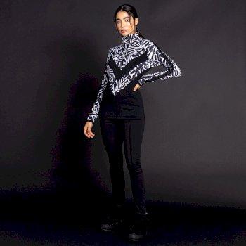 Dare 2B X Julien Macdonald - Women's Nonpareil Core Stretch Midlayer Monochrome Zebra Print