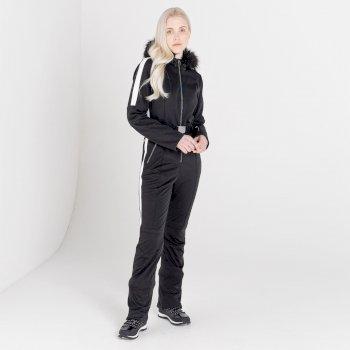 Combinaison de ski à capuche Femme imperméable SNOWFALL - Collection Luxe Noir