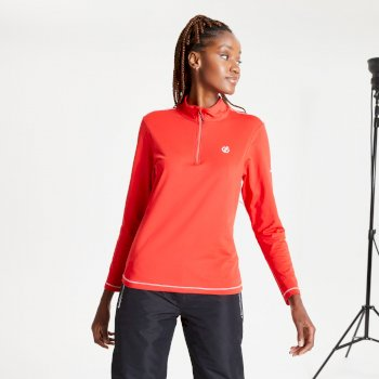 Women's Lowline II Half Zip Lightweight Core Stretch Midlayer Seville Red