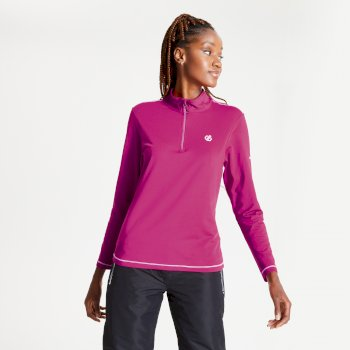 Women's Lowline II Half Zip Lightweight Core Stretch Midlayer Active Pink