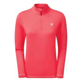 Women's Lowline II Half Zip Lightweight Core Stretch Midlayer Neon Pink