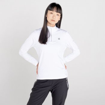 Women's Lowline II Half Zip Lightweight Core Stretch Midlayer White