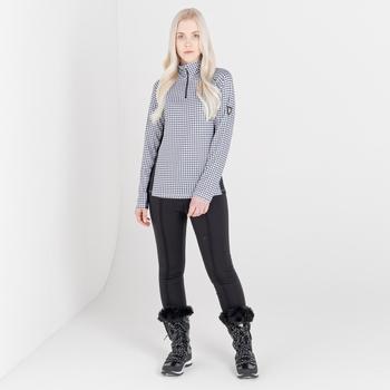 Pantalon de ski Femme imperméable SLENDER II - Collection luxe  Noir