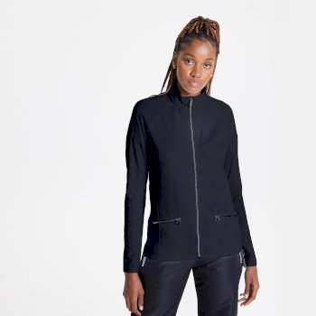 Swarovski Embellished - Women's Solaria II Full Zip Luxe Core Stretch Midlayer Black