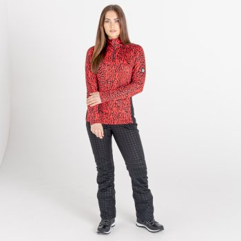 Swarovski Embellished - Women's Outfast Core Stretch Midlayer Lollipop Red Wild Thing Print