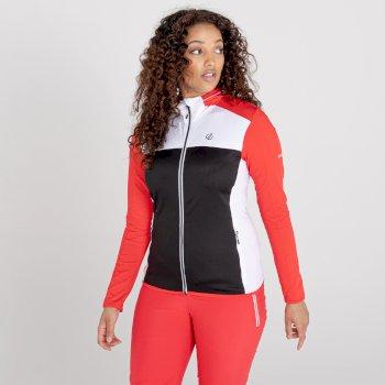 Women's Courage Zip Through Core Stretch Midlayer Lollipop Red Black