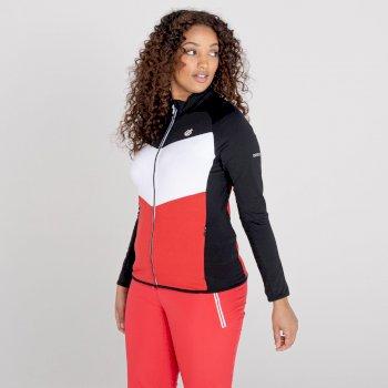 Couche intermédiaire core stretch zippée Femme ELATION Rouge