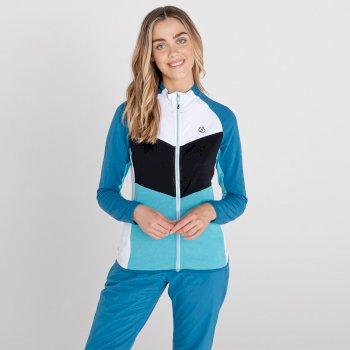 Couche intermédiaire core stretch zippée Femme ELATION Bleu