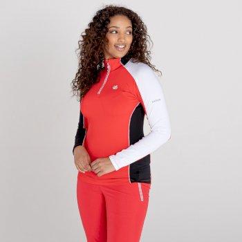 Women's Default II Full Zip Core Stretch Midlayer Lollipop Red Black