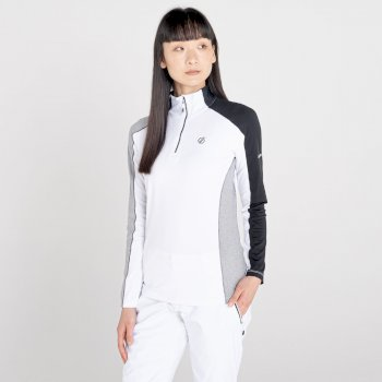 Women's Default II Full Zip Core Stretch Midlayer White Black