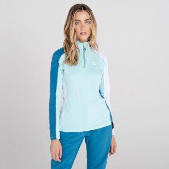 Women's Default II Full Zip Core Stretch Midlayer Aruba Blue White