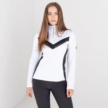 Swarovski Embellished - Women's Bejewel II Core Stretch Midlayer White Black