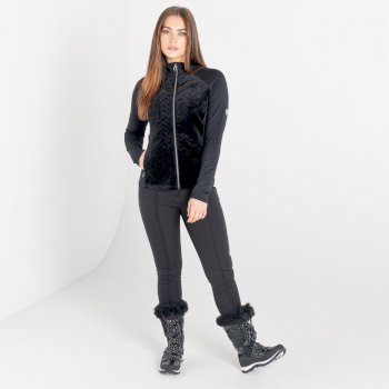 Swarovski Embellished - Women's Stunning Core Stretch Midlayer Black