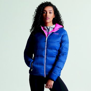 Women's Low Down Insulated Jacket Blue Wing Luminous Pink
